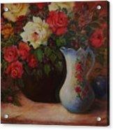 Roses N'blue Acrylic Print