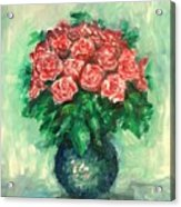 Roses Oil Painting  Acrylic Print