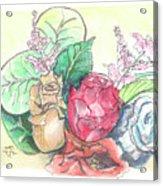 Roses On A Birthday Acrylic Print
