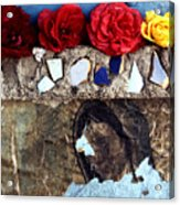 Roses On A Shrine Acrylic Print