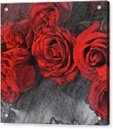Roses On Lace Acrylic Print