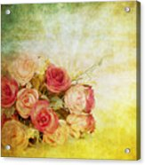 Roses Pattern Retro Design Acrylic Print