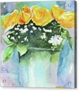 Roses Row Acrylic Print