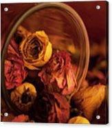 Roses Spilling Out Of Vase Acrylic Print