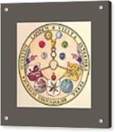 Rosicrucian Rose Acrylic Print