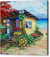 Rosies Beach Cafe Acrylic Print