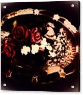 Rosses On A Flowing Dish Acrylic Print