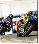 Rossi Leading The Pack Acrylic Print