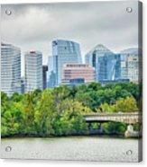 Rosslyn Distric Arlington Skyline Across River From Washington D Acrylic Print