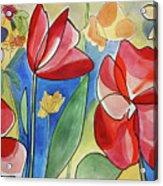 Rosso Fiori Acrylic Print