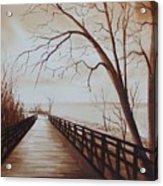 Rotary Bridge Acrylic Print