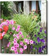 Rothenburg Flower Box Acrylic Print