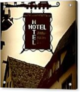Rothenburg Hotel Sign - Digital Acrylic Print