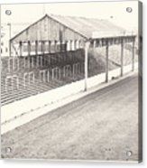 Rotherham - Millmoor - Millmoor Lane Stand 1 - Bw - April 1970 Acrylic Print