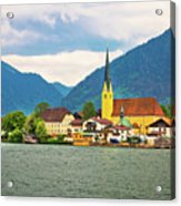 Rottach Egern On Tegernsee Architecture And Nature View Acrylic Print