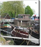 Rotterdam Silence By The Docks Acrylic Print