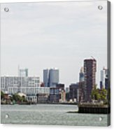 Rotterdam Skyline With Euromast  Acrylic Print