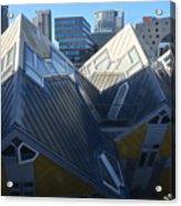 Rotterdam - The Cube Houses And Skyline Acrylic Print
