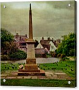 Rottingdean War Memorial And Village Common Acrylic Print