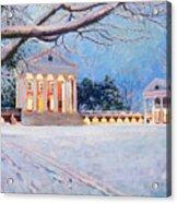 Rotunda On A Snowy Night Acrylic Print