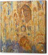 Rouen Cathedral, Facade, Sunset Acrylic Print
