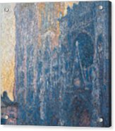 Rouen Cathedral, The Portal, Morning Acrylic Print