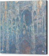 Rouen Cathedral, The Portal, Morning Light Acrylic Print