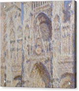 Rouen Cathedral, The Portal, Sunlight Acrylic Print