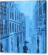 Rouen In The Rain Acrylic Print