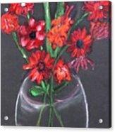 Rouge Et Noir Acrylic Print