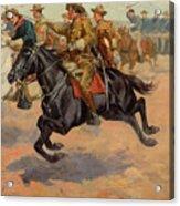 Rough Riders Cavalry Acrylic Print