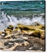 Rough Seas At Blowing Rock Acrylic Print