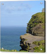 Round Stone Tower Refferred To As O'brien's Tower In Ireland Acrylic Print