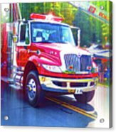 Round Top Vol. Fire Co. Inc. New York 6 Acrylic Print