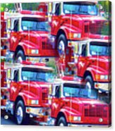 Round Top Vol. Fire Co. Inc. New York 8 Acrylic Print