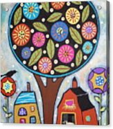 Round Tree Acrylic Print by Karla Gerard