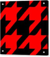 Rounded Houndstooth Black Background 02-p0123 Acrylic Print
