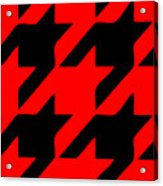 Rounded Houndstooth Black Pattern 02-p0123 Acrylic Print