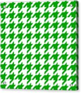 Rounded Houndstooth White Background 09-p0123 Acrylic Print