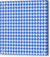 Rounded Houndstooth White Background 18-p0123 Acrylic Print