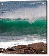 Roundstone Turquoise Wave Ireland Acrylic Print