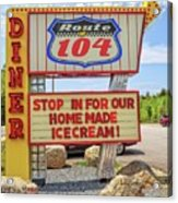 Route 104 Diner Sign Acrylic Print