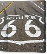 Route 66 Highway Sign Acrylic Print