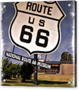 Route 66 Museum - Impressions Acrylic Print