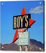 Route 66 - Roy's Of Amboy California Acrylic Print