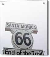 Route 66 Santa Monica- By Linda Woods Acrylic Print