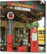 Route 66 - Shea's Gas Station Acrylic Print