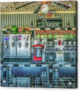 Route 66 Valentine Diner Acrylic Print