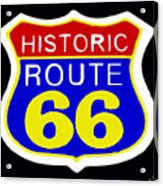 Route 66 Vintage Sign Acrylic Print