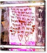 Route 91 Harvest Festival Memorial 21, A Child's Grief Acrylic Print